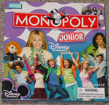 MONOPOLY JR DISNEY CHANNEL EDITION GAME PARKER BROTHERS 2007 COMPLETE EX... - $15.00