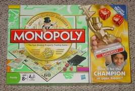 MONOPOLY PROPERTY TRADING GAME CHAMPIONSHIP EDITION 2009 MILTON BRADLEY ... - $25.00