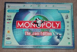 MONOPOLY THE .COM EDITION PROPERTY TRADING GAME 2000 PARKER BROTHERS COM... - $20.00