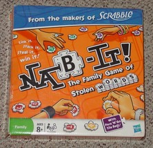 NAB IT GAME OF STOLEN WORDS 2009 HASBRO PARKER BROTHERS COMPLETE EXCELLENT - $15.00