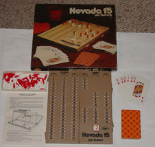 NEVADA 15 GIN RUMMY CARD GAME LOWE MILTON BRADLEY COMPLETE EXCELLENT - $20.00