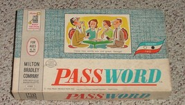 PASSWORD WORD GAME Volume two 1962 MILTON BRADLEY COMPLETE EXCELLENT LIG... - $20.00
