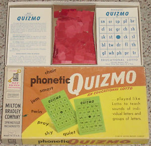 QUIZMO PHONETIC QUIZMO EDUCATIONAL LOTTO MILTON BRADLEY 1957 - $18.00