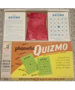 QUIZMO PHONETIC QUIZMO EDUCATIONAL LOTTO MILTON BRADLEY 1957 - $18.00