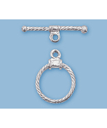 (1) STERLING SILVER  ''TWISTED WIRE'' TOGGLE CLASP - $8.19