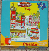 PUZZLE BUSYTOWN PUZZLE RICHARD SCARRY 48 PC NEW FACTORY SEAL CARDINAL IN... - $30.00