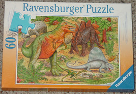 PUZZLE DINOSAURS 1997 RAVENSBURGER 60 PIECES MADE IN GERMANY COMPLETE - $15.00