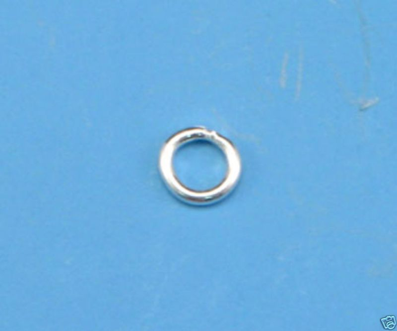 (10) EXTRA HEAVY SOLID STERLING SILVER CLOSED JUMP RING