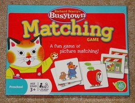 RICHARD SCARRYS BUSYTOWN MATCHING CARD GAME 2010 WONDER FORGE - $15.00