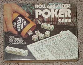 Roll & Score Poker Dice Game 1977 Es Lowe Milton Bradley Complete - $20.00