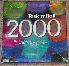 RISK & ROLL 2000 GAME PARKER BROTHERS 1999 DICE GAME OF MILLENNIUM COMPL... - $15.00
