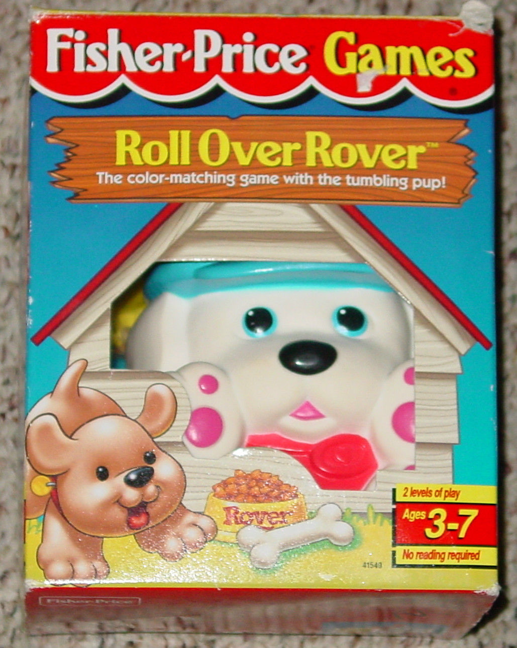 Primary image for ROLL OVER ROVER COLOR MATCH GAME 1998 FISHER PRICE COMPLETE