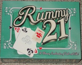 RUMMY 21 COMBINATION CARDS & TILES GAME 2001 WINNING MOVES COMPLETE SEAL... - $20.00