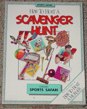 SCAVENGER HUNT GAME SPORTS SAFARI 1990 DECIFER INC COMPLETE EXCELLENT UN... - $20.00