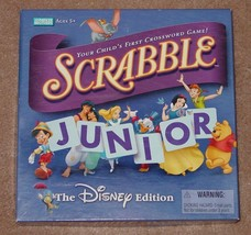 Scrabble Junior Crossword Game Disney Edition 2004 Parker Brothers Complete Exce - $10.00