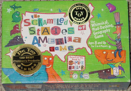 SCRAMBLED STATES OF AMERICA GAME GEOGRAPHY GAME GAMEWRIGHT1998 COMPLETE - $20.00