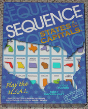 Sequence Game  States & Capitals 2006 New & Unused Open Box Sealed Cards Jax - $25.00