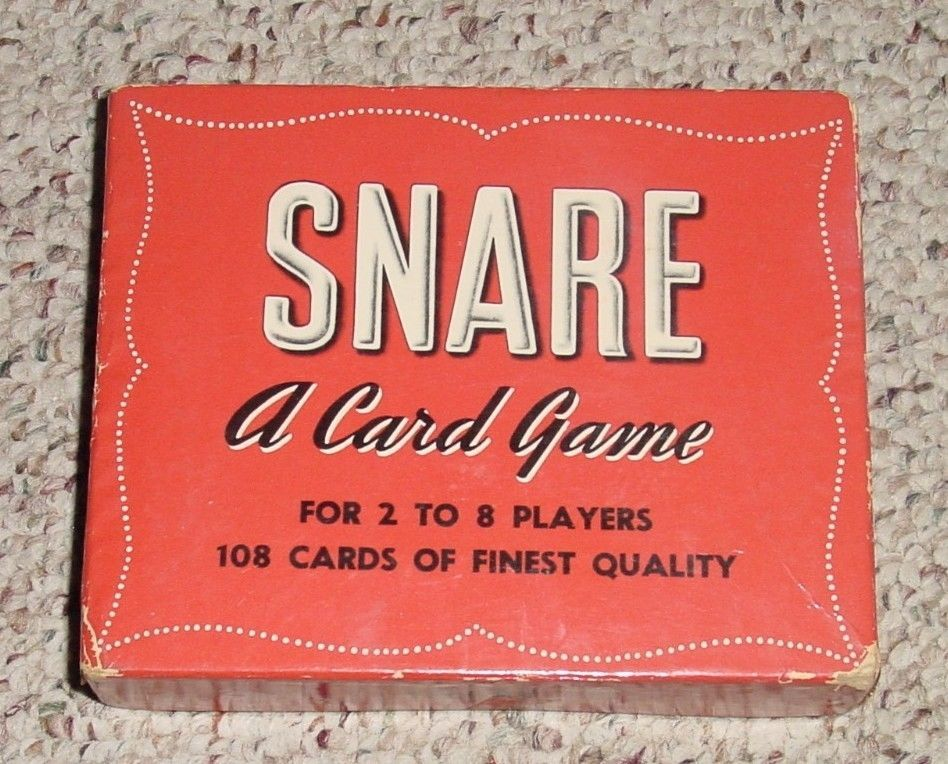 SNARE WORD BUILDING CARD GAME 1954 WHITMAN  COMPLETE EXCELLENT MADE IN USA - $25.00