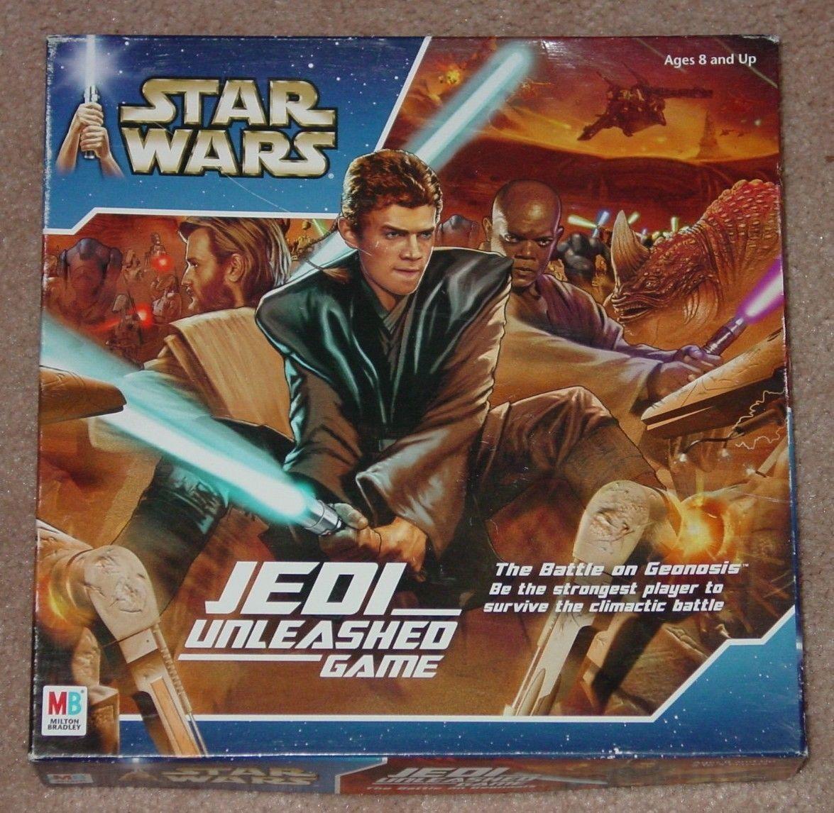 STAR WARS JEDI UNLEASED GAME 2002 MILTON BRADLEY HASBRO COMPLETE EXCELLENT - $20.00