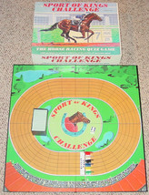 Sport Of Kings Challenge Board Game 1986 Horse Racing Quiz Game Complete - $25.00
