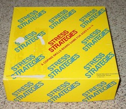 STRESS STRATEGIES COPING SKILLS BOARD GAME 1986 STRESS EDUCATION CO COMP... - $25.00