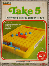 TAKE 5 CHALLENGING STRATEGY GAME PUZZLER 1977 GABRIEL CO COMPLETE EXCELL... - $15.00