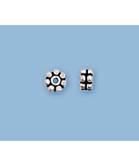 (12)  NEW, SOLID STERLING SILVER BALI STYLE BEADS - $9.29