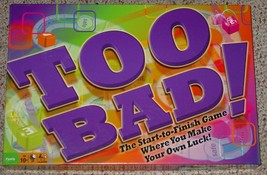 TOO BAD DICE GAME 2009 WINNING MOVES  COMPLETE EXCELLENT LIGHTLY USED - $20.00