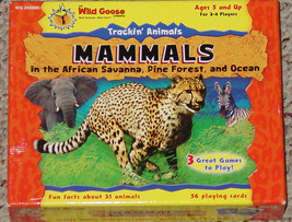 TRACKIN ANIMALS MAMMALS CARD GAME BY WILD GOOSE CO NEW SEALED CARDS OPEN... - $25.00