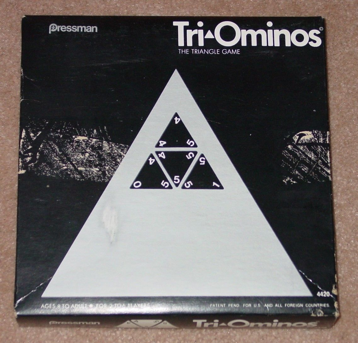 Primary image for TRI OMINOS TRIANGLE GAME OLDER VERSION PAT PENDING PRESSMAN COMPLETE EXCELLENT