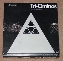 TRI OMINOS TRIANGLE GAME OLDER VERSION PAT PENDING PRESSMAN COMPLETE EXC... - $25.00