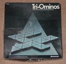 TRI OMINOS TRIANGLE DOMINO GAME 1985 PRESSMAN TOY CO COMPLETE EXCELLENT - $20.00
