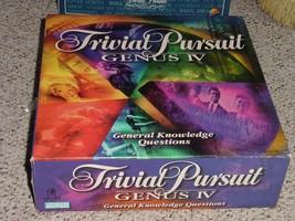 TRIVIAL PURSUIT GENUS IV GENERAL EDITION GAME 2002 PARKER BROTHERS COMPL... - $25.00