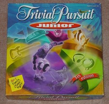 TRIVIAL PURSUIT JUNIOR TRIVIA GAME FIFTH EDITION 2001 HASBRO COMPLETE - $20.00