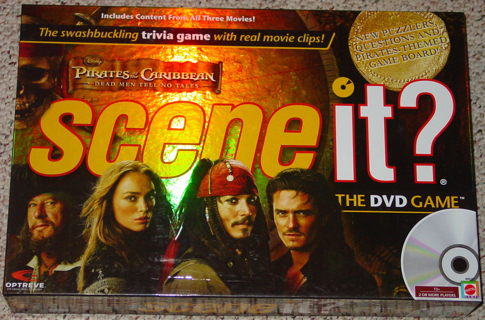 SCENE IT DVD GAME PIRATES OF THE CARIBBEAN DEAD MEN TELL NO 2007 sealed parts - $20.00