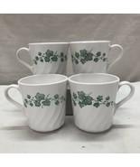 CORNINGWARE CALLAWAY IVY PATTERN TEA/COFFEE 10 OZ CUPS - SET OF 4  - $11.08