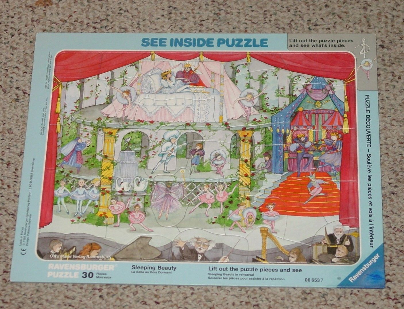 Primary image for PUZZLE SLEEPING BEAUTY SEE INSIDE PUZZLE 30 PIECES 1989 RAVENSBURGER COMPLETE