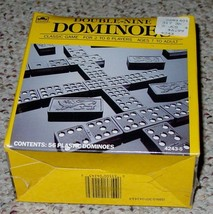 DOMINOES DOUBLE NINE DOMINO 1989 GOLDEN WESTERN PUBLISHING NEW FACTORY S... - $10.00