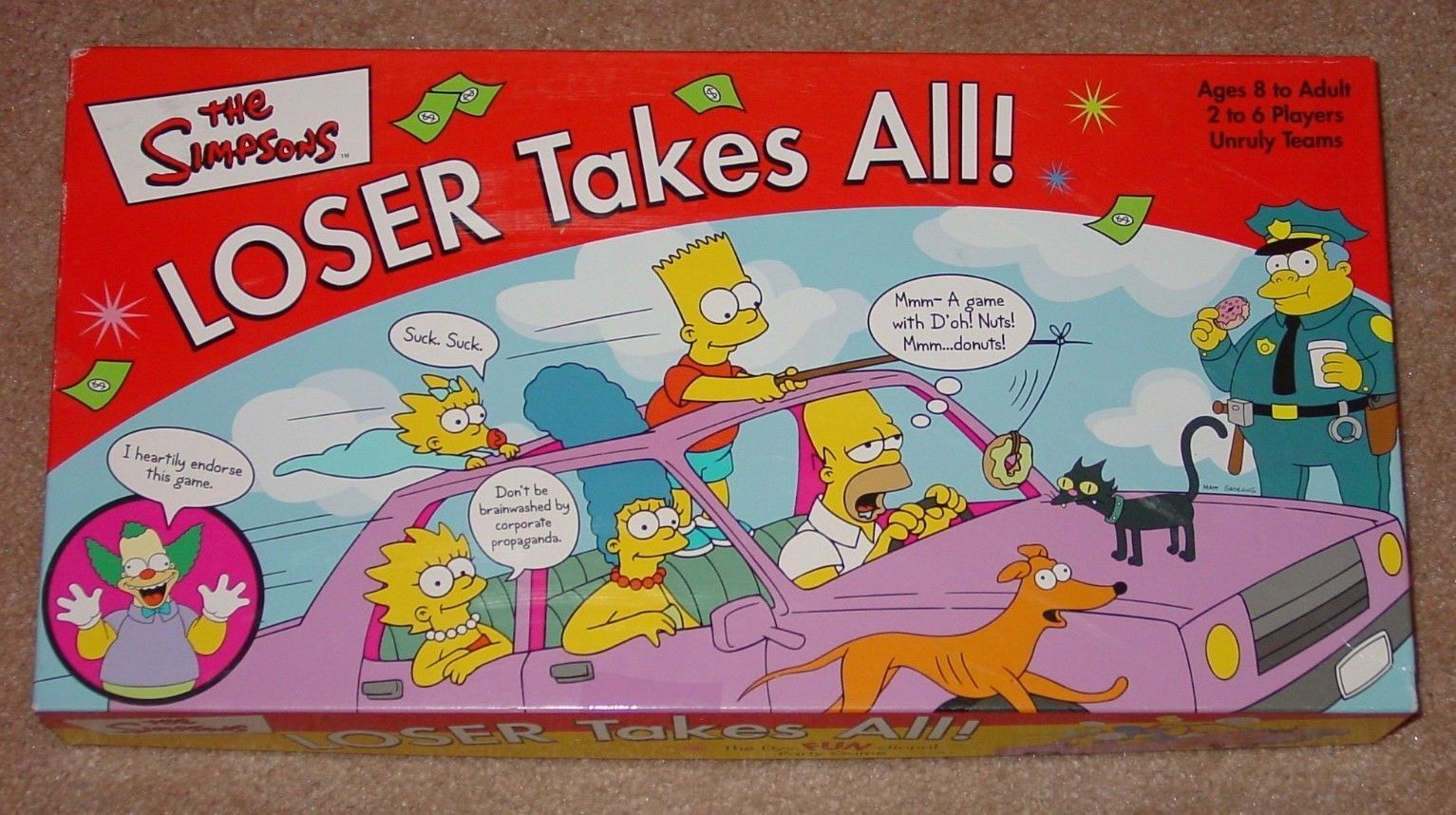 SIMPSONS LOSER TAKES ALL DYSFUNCTIONAL PARTY GAME 2001 ROSEART COMPLETE