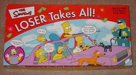 Simpsons Loser Takes All Dysfunctional Party Game 2001 Roseart Complete - $20.00