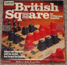BRITISH SQUARE STRATEGY GAME VINTAGE  1978 GABRIEL COMPLETE EXCELLENT - $30.00