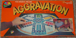 AGGRAVATION ORIGINAL DELUXE MARBLE RACE GAME 1987 SELCHOW & RIGHTER COMP... - $30.00