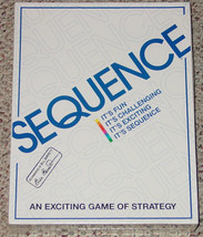 SEQUENCE GAME STRATEGY GAME 1995 JAX NEW FACTORY SEALED BOX - $24.00