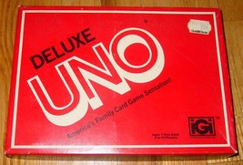 UNO DELUXE UNO CARD GAME 1978 IGI COMPLETE EXCELLENT LIGHTLY PLAYED - $20.00