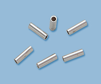 Primary image for (14) NEW, SOLID STERLING SILVER CRIMP BEAD ENDS 2X3