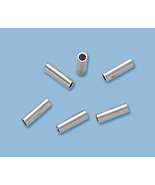 (14) NEW, SOLID STERLING SILVER CRIMP BEAD ENDS 2X3 - $5.78
