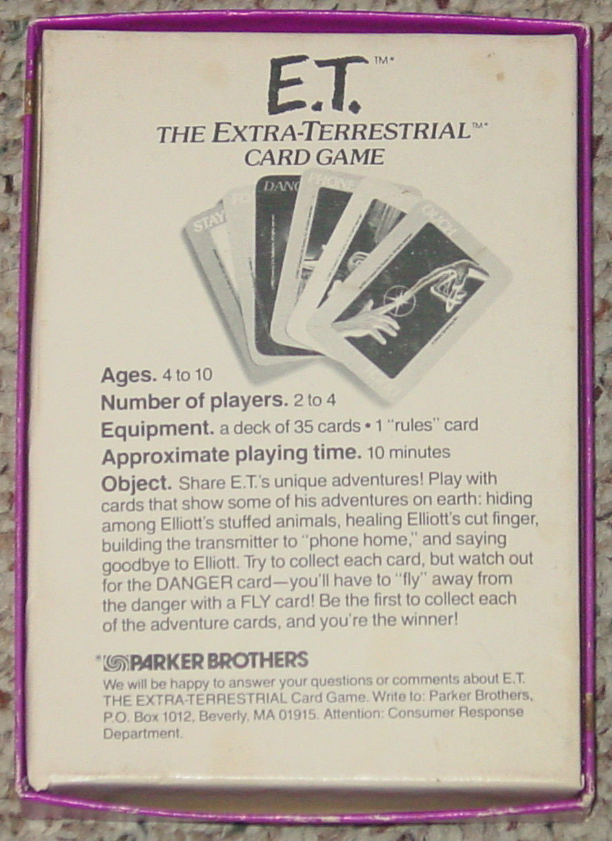 ET THE EXTRA TERRESTRIAL CARD GAME 1982 PARKER BROTHERS NO 756 COMPLETE image 2