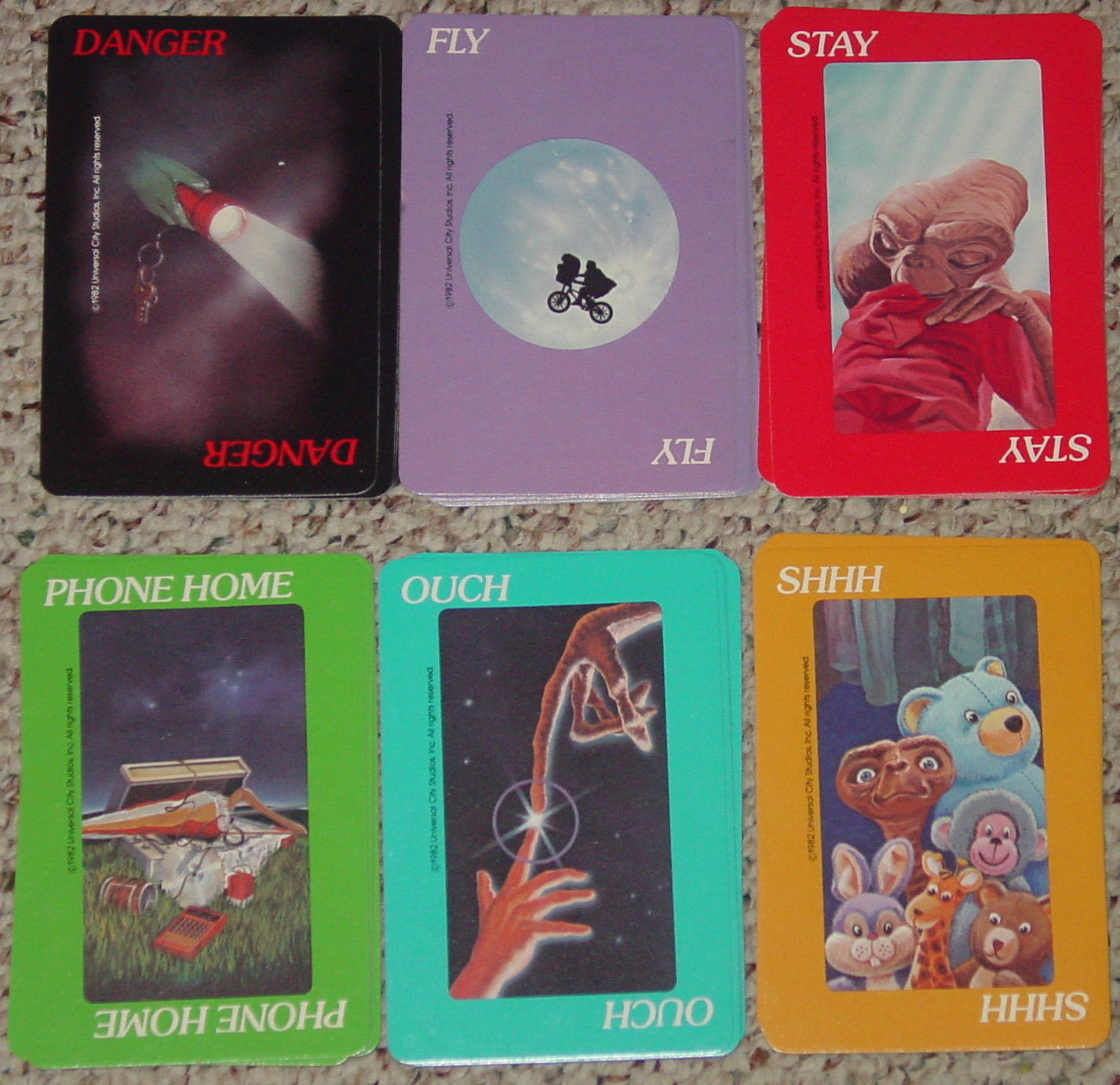 ET THE EXTRA TERRESTRIAL CARD GAME 1982 PARKER BROTHERS NO 756 COMPLETE image 3