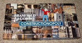 CONSTRUCTIONOPOLY GAME BRASFIELD & GORRIE LATE FOR THE SKY NIB UNUSED CO... - $30.00