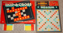 SKIP A CROSS WORD TALLY GAME 1954 CADACO MAKERS OF SCRABBLE VINTAGE COMP... - $20.00